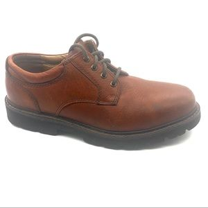 Dockers Men's Brown Leather Lace-up Oxfords